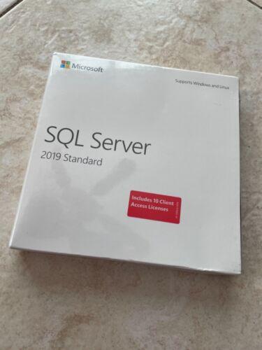 Microsoft SQL Server 2019 Standard 10 Clients Retail box 228-11548