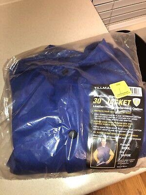 Tillman Welding Jacket 9230 Large Fr Cotton Torso W Leather Sleeves