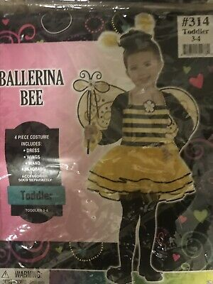 Ballerina Halloween Costume Child (BALLERINA BEE COSTUME CHILD SMALL SIZE 3-4 - Preo4 PIECES GIRL HALLOWEEN)