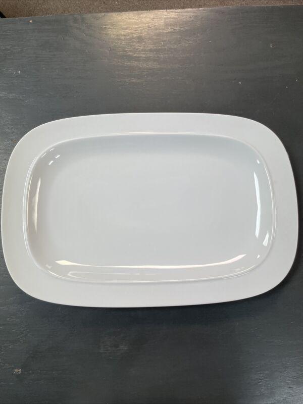 Denby White Squares Platter