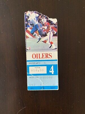 Houston Oilers vs. New England Patriots Ticket Stub