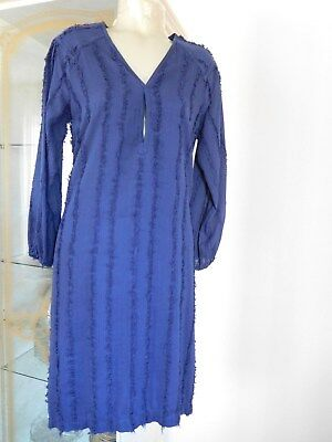 Traumhaftes Kaftan Kleid von ANTIK BATIK gr.S/38 Doppelt/Fransen Nachtblau=NEU ()