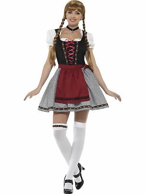 Bavarian Oktoberfest Tavern Wench Womens Costume Ladies Fancy Dress Outfit - Wench Womens Kostüm