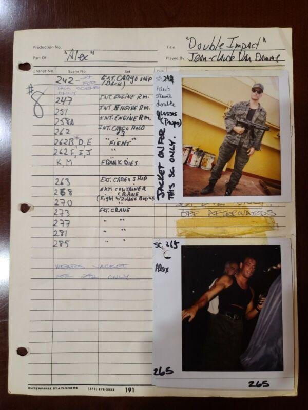 DOUBLE IMPACT Original JEAN CLAUDE VAN DAMME Photos/Sheet ALEX WAGNER & DOUBLE