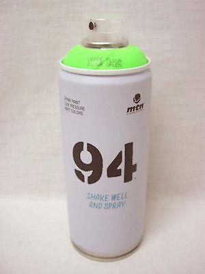 (35179) BOTE SPRAY PINTURA GRAFITTI MTN 94 MONTANA COLORS VERDE FLUORESCENTE