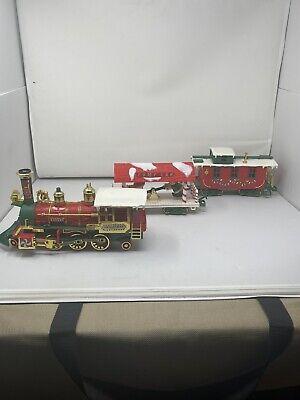 1986 VTG New Bright Santa's Xmas Express Train Set No 183 FOR PARTS Box Y