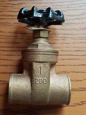 "BRASS GATE VALVE 1/"" NPT LEAD FREE Shut-Off Valves 205T001-NL"