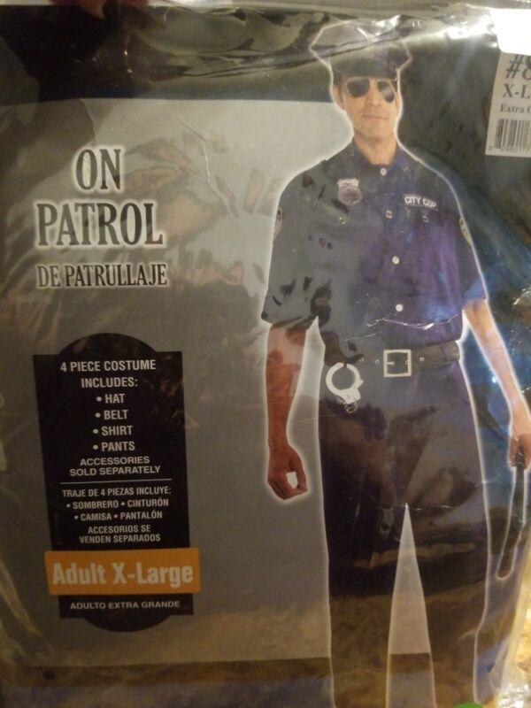 Adult On Patrol Police Costume Adult XLarge #371