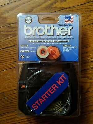 Brother Typewriterword Processor Accessory Starter Kit Sk-100 Black New