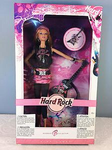 2006-Hard-Rock-Barbie-Doll-Blonde-K7906-Pink-Label-Pink-Camo-Miniskirt-NRFB