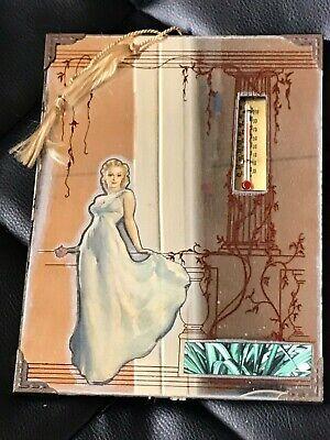"""1945 Vintage Pinup girl advertising mirror Gil Elvgren artist """"Dream Girl"""""""