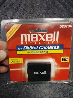 Maxell DC3784 Lithium Ion Battery For Digital Camera Panasonic replaces CGR-S002
