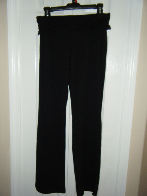 ONE STEP UP SIZE MED COTTON SPANDEX BLACK RUFFLE FOLD OVER WAIST NEW