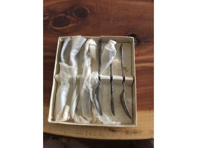 Set of 6 Sheffield England Silverplate Dessert/Pastry Forks FG EPNS
