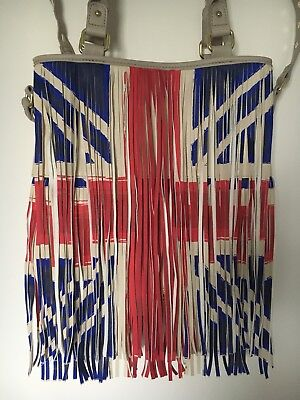 STEVE MADDEN Handtasche Tasche Shopper Schultertasche groß UK Union Jack Fransen ()