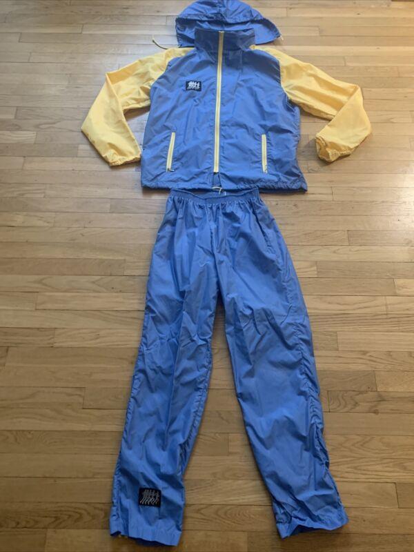 Vintage Frank Shorter Nylon Windbreaker 2pc Running Track Sports Suit Womens  XL