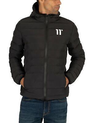 11 Degrees Men's Space Puffer Jacket, Black