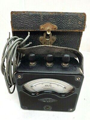 Vintage Westinghouse Alternating Current Volt Meter Voltmeter Style 8200360