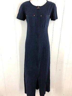 Ladies Navy Blue Short (CAROLE LITTLE WOMENS LADIES NAVY BLUE SHORT SLEEVE CAREER WORK CASUAL DRESS ~ 4 )