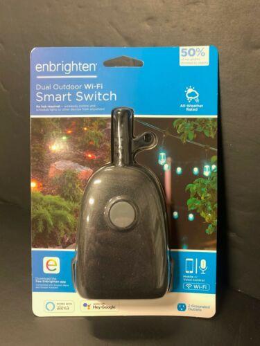 Enbrighten Dual Outdoor Wi-Fi Smart Swtich, Wifi Smart Outlet