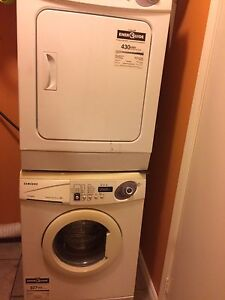 Samsung stackable small sized washer and dryer
