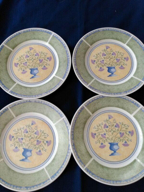 "Sango papillon 8838 Salad/Dessert Plates set of 4 7.5"". EUC"