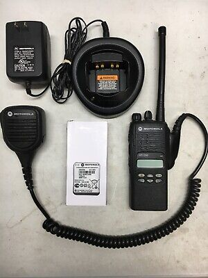 MOTOROLA HT1250 VHF 136-174MHz 128ch radio AAH25KDF9AA5AN w/ Bat Ant Charger Mic. Buy it now for 275.0
