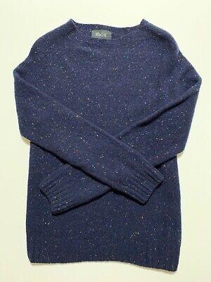 Dark blue Howlin men's sweater 100% merino wool size M made in Scotland