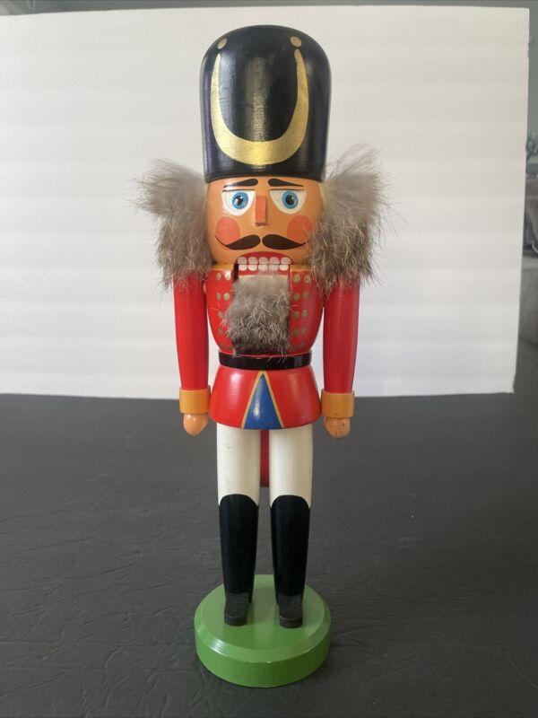 "Original Erzgebirge Nutcracker Soldier Made In Germany 14"""
