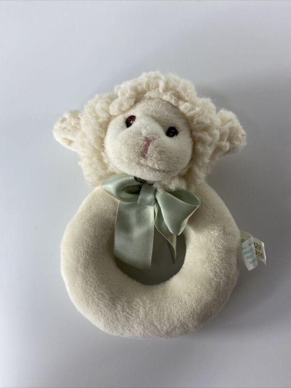 Bearington Baby Sheep Little Rattle Hand Hold Toy Kids Animal lamb Cute