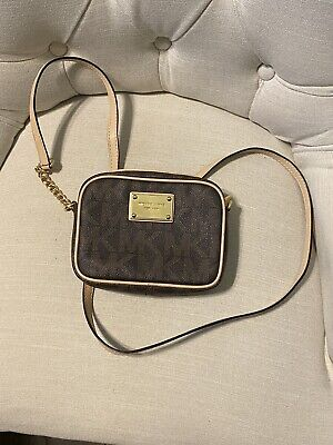 Authentic Michael Kors Crossbody Hipster Purse BROWN