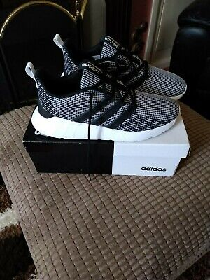 adidas Questar Flow Trainers Black + White Size 8 new and boxed rrp 64.99