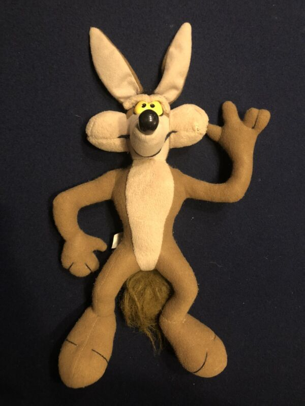 "Vintage 1994 Wile E. Coyote 12"" tyco  Plush Toy Stuffed Doll Looney Tunes"