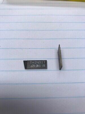 10 Pcs. Thin Bit .029 Dm5 Fr Full Radius Insert. Made In Usa. Loc B16