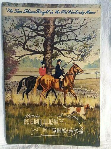 Vintage Travel - Historic Kentucky Highways -Printed April 1948