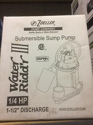 Zoeller Wm49 Submersible Sump Pump 14 Hp 115v 1ph 1-12 Discharge - 49-0005