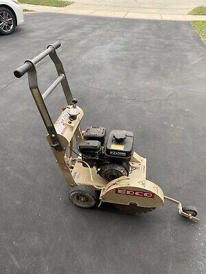 Edco Kl-14 7 H.p. Subaru Clean Low Hour Walk Behind Concrete Saw Cutter