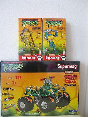 Supermag NINJA TURTLES TMNT QUAD, MICHAELANGELO, DONATELLO 226 Teile NEU & OVP