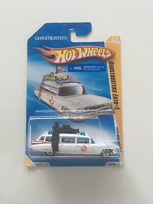 Hot Wheels Ecto-1 Ghostbusters White Original 2010 New Models