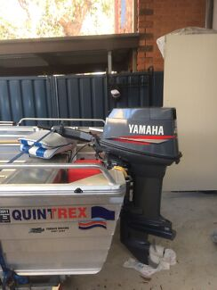 Like new 14ft tinny with 40hp on trailer