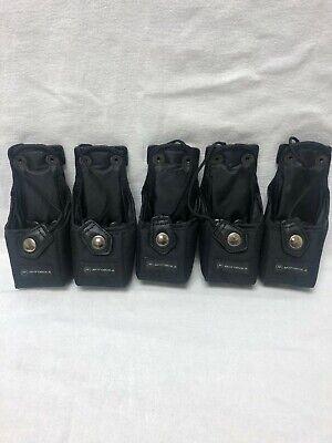 Motorola Lot Of 5 Nylon Carrying Case Ntn8725a Xts3000 Xts5000 Used