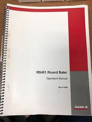 Caseih Rs451 Round Baler Operators Manual