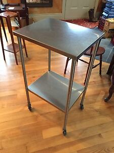 Imperial Surgical Stainless steel mobile table