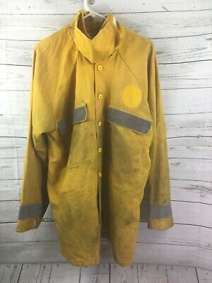 Wildland Firefighter Yellow Nomex Fire Shirt Xl Extra Large