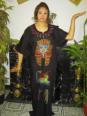 Kleopatra Pharao Kostüm handbesticktes Faschingskostüm Karnevalskostüm - Baumwolle Bestickt Kostüm