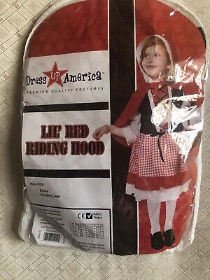 Red Riding Hood Dress Up (Dress Up America Lil Red Riding Hood Toddler Child)