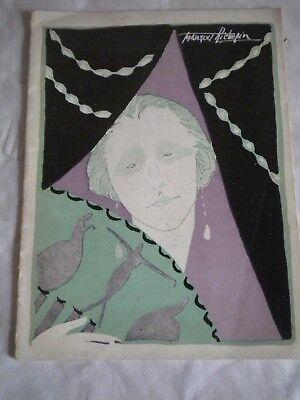 Vintage Programme Theatre De La Renaissance jacques richepin Art deco cover