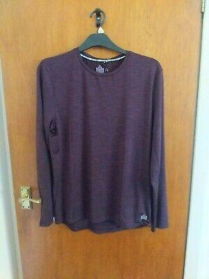 Mens purple long sleeve top Admiral size medium