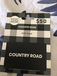 Gift card unused gumtree australia free local classifieds 50 country road gift card unused negle Choice Image