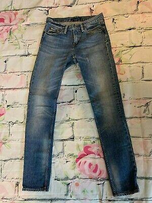 RALPH LAUREN Thompson 650 Ladies Medium Distressed Straight Leg Jeans 26 x 30
